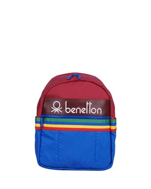 BENETTON 70046 - ANAOKUL ÇANTASI (BORDO-MAVİ)